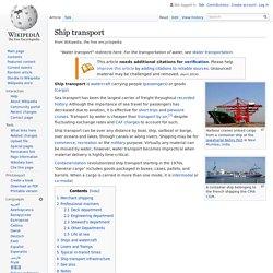 Ship transport