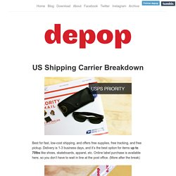 Depop blog — US Shipping Carrier Breakdown