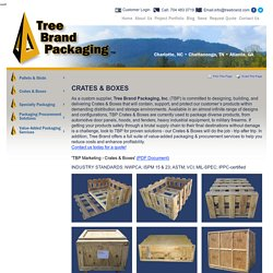 Custom wood crates in Charlotte