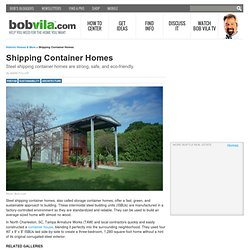 Container House, Shipping Container Homes