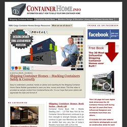 Shipping Container Homes - How to Plan, Design and Build your own House out of Cargo Containers »