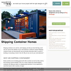 Shipping Container Homes - Design for Me