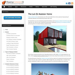Container homes green resources pearltrees - Lot ek container home kit ...