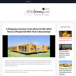 A Shipping Container Costs About $2,000. What These 15 People Did With That Is Beyond Epic – REALfarmacy.com