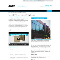 About CHEP, Shipping Container & Pooling Solutions