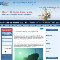 Lost or Damaged Cargo Shipping Lawsuits