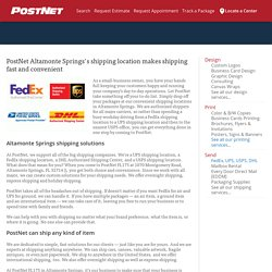 Postnet-Biz Shipping in Altamonte Springs