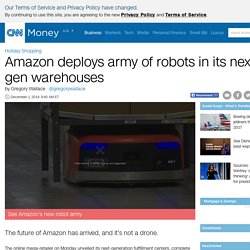 Amazon shipping robots help prepare customer orders - Dec. 1, 2014