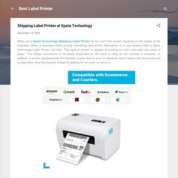Shipping Label Printer at Spata Technology
