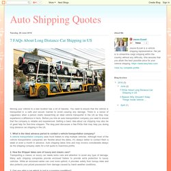 7 FAQs About Long Distance Car Shipping in US