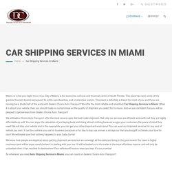 Car Shipping Services Miami