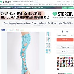 Free shipping!Vaqueros Lazos Bowknots Denim Pant Pants Light Blue 3 Size from ego_superman on Storenvy