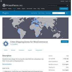 Cities Shipping Zones for WooCommerce – WordPress plugin