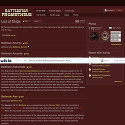 List of Ships - Battlestar Prometheus Wiki