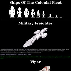 Ships of the Colonial Fleet
