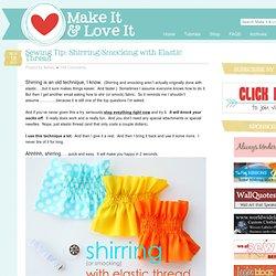 Shirring/Smocking with Elastic Thread