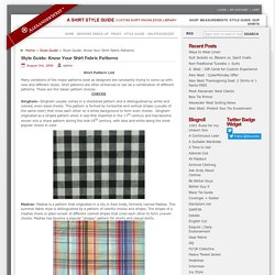 Know your shirt fabric patterns