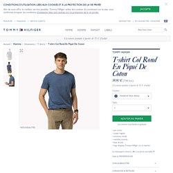 T-shirt Col Rond En Piqué De Coton