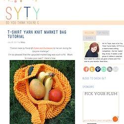T-Shirt Yarn Knit Market Bag Tutorial