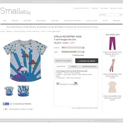 T-shirt Nuages Arlo Gris Stella McCartney Kids - Mode Ado
