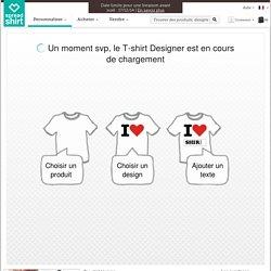 Tee shirt personnalisé - Créez un tee shirt personnalisé avec le Designer Spreadshirt