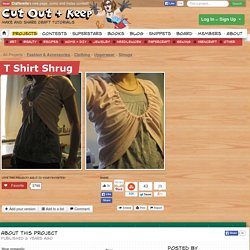T Shirt Shrug ∙ How To by EVEnl on Cut Out