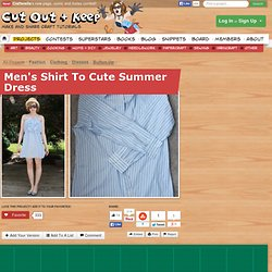Men's Shirt To Cute Summer Dress