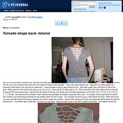t_shirt_surgery: Tornado shape back- totorial