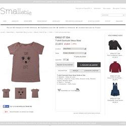 T-shirt Suricute Vieux Rose Emile et Ida - Mode Enfant