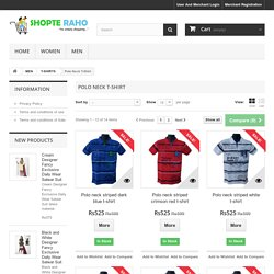 Polo Neck T-Shirts for Men – Available at Many Colors at Shopte Raho