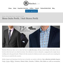 Why Shop For Mens Suits at Marchesi Menswear ?
