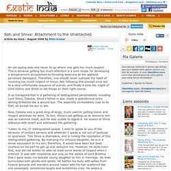 Sati and Shiva: Attachment to the Unattached