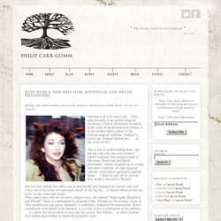 Kate Bush & her Shivaism, Dionysian and Druid Philosophy