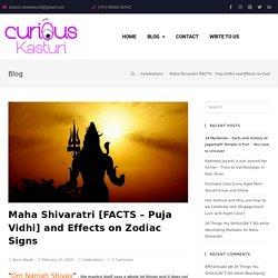 Maha Shivaratri [FACTS - Puja Vidhi] and Effects on Zodiac Signs