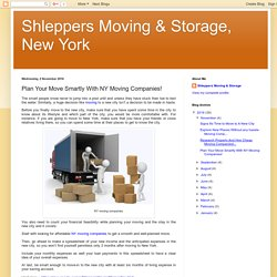 Plan Your Move Smartly With NY Moving Companies!