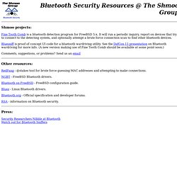 Shmoo: Bluetooth Security
