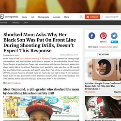Shocked Mom Asks Why Her Black Son Was Put On Front Line During Shooting Drills, Doesn't Expect This Response