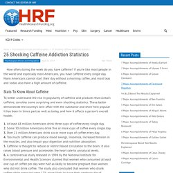 25 Shocking Caffeine Addiction Statistics