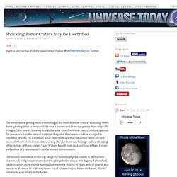 Shocking! Lunar Craters May Be Electrified | Universe Today