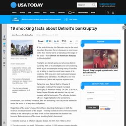 19 shocking facts about Detroit's bankruptcy