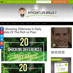 20 Shocking Differnces In Daily Habits Of The Rich vs Poor