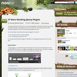 37 More Shocking jQuery Plugins