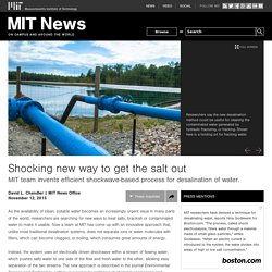 Shocking new way to get the salt out - MIT