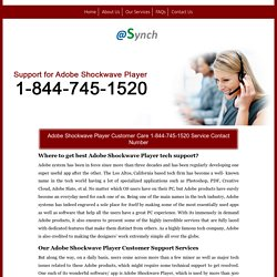 Shockwave Player CS 1-844-745-1520 Live Support/Help Number