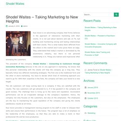 Shodel Waites – Taking Marketing to New Heights
