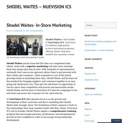 Shodel Waites- In-Store Marketing