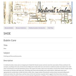 Shoes and Shoemakers · Medieval London
