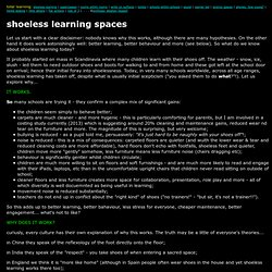 shoeless learning spaces