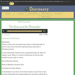 The Elves and the Shoemaker - Storynory - Free Audio Stories for kids