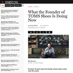 What TOMS Shoes Founder Blake Mycosckie Is Doing Now